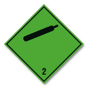 compressed-gas-2-label-hazard-warning-diamond-(250mm-no-text)