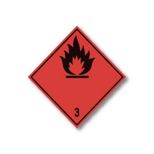 flammble-3-hazard-warning-label---no-text-100mm